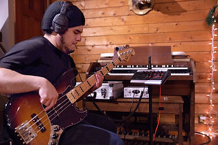 Recording bass guitar at Stone Creek Sound