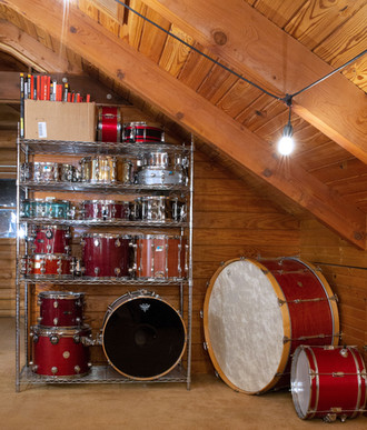 Drum collection at Stone Creek Sound