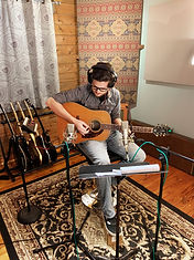 Recording acoustic guitar at Stone Creek Sound