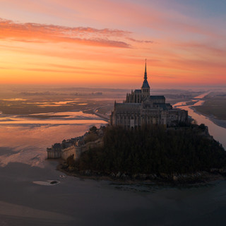 Sunset at Mont St Micheal