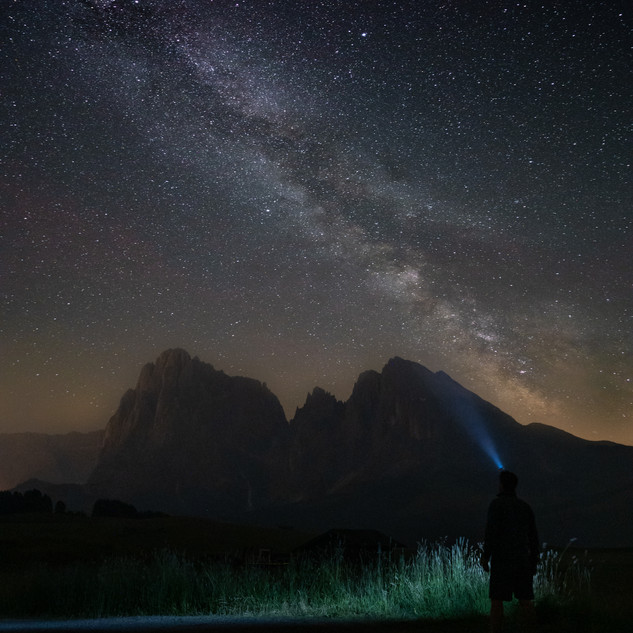 The milky way over the dolomites