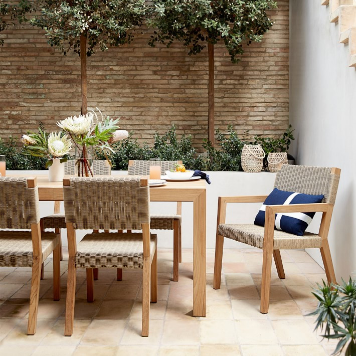 Winchester Teak and Rattan Dining Set