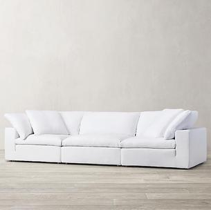 3 Seater Linen Fabric Sofa