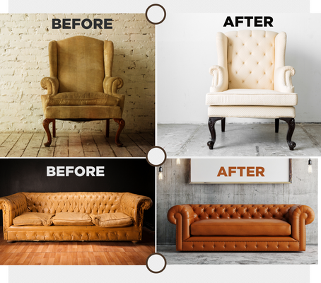 Want to recover your old sofa in a new Fabric or Leather?