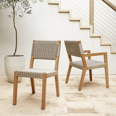 Winchester Teak and Rattan Dining Chairs