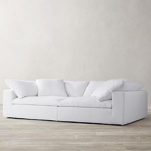 2 Seater Linen Fabric Sofa