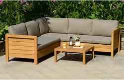 Teakwood L Shaped Sofa