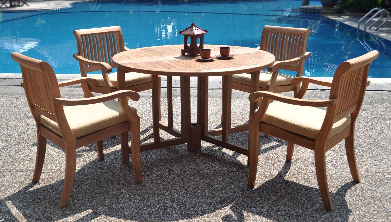 Teak Round Table Dining Set