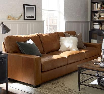 Leather Arm Sofa three Seater (Genuine L