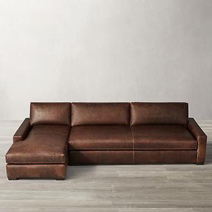 Classic L Shaped Leather Sofa