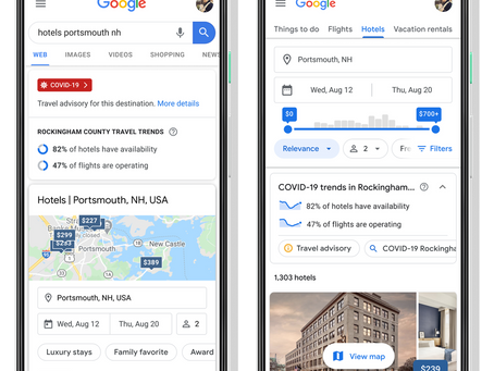 Google Travel adds Covid-19 safety features, alongside travel related updates about destinations