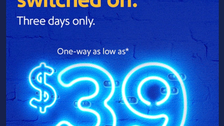 Southwest offers $39 fare sale for travelers for 3 days only