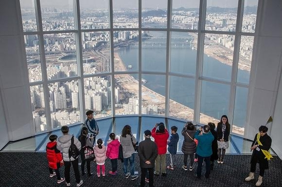 lotte world tower view