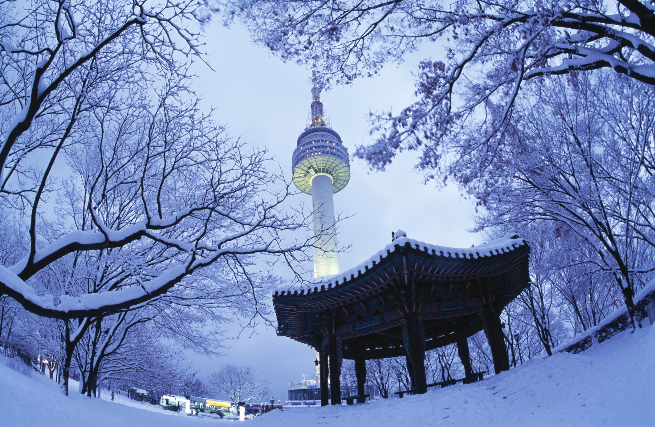 서울타워_겨울