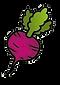 Logo Facebook sur une illustration de betterave