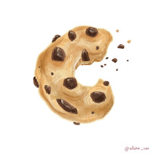 C is for a chocolate chip cookie
