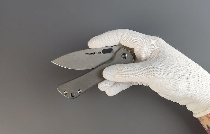 Складной нож Shokuroff M0601 mini ELMAX титан стоунвош