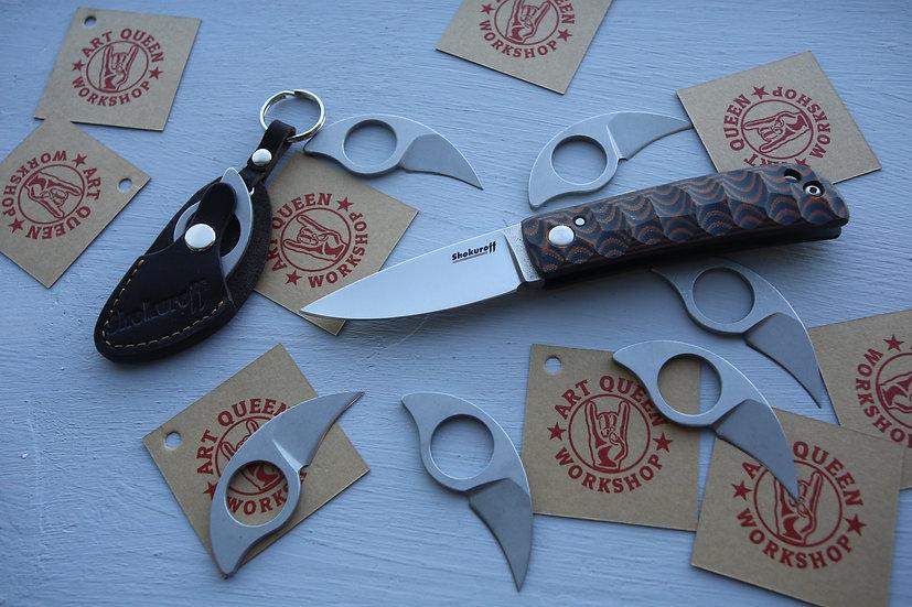 Фрикционный нож Shokuroff коричнево-рыжий