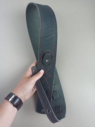 Ремень для гитары AQ grey из натуральной кожи
