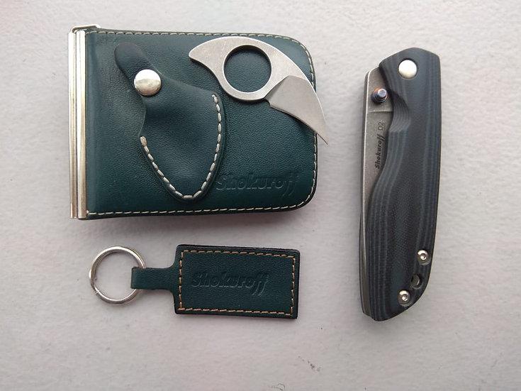 Складной нож Shokuroff M1201 Leon [D2 • стоунвош]