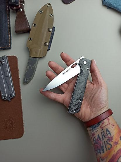 Складной нож Shokuroff M0902 • M390 •Carbon /Ti • tetris