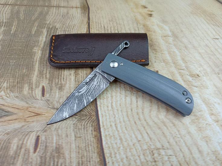 Фрикционный нож Shokuroff [D2 | серая G10]