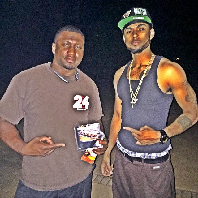 Me and my homie _sdbrown24  he just got his copy of #TheBarShow  this one of hardest hittin DB's the