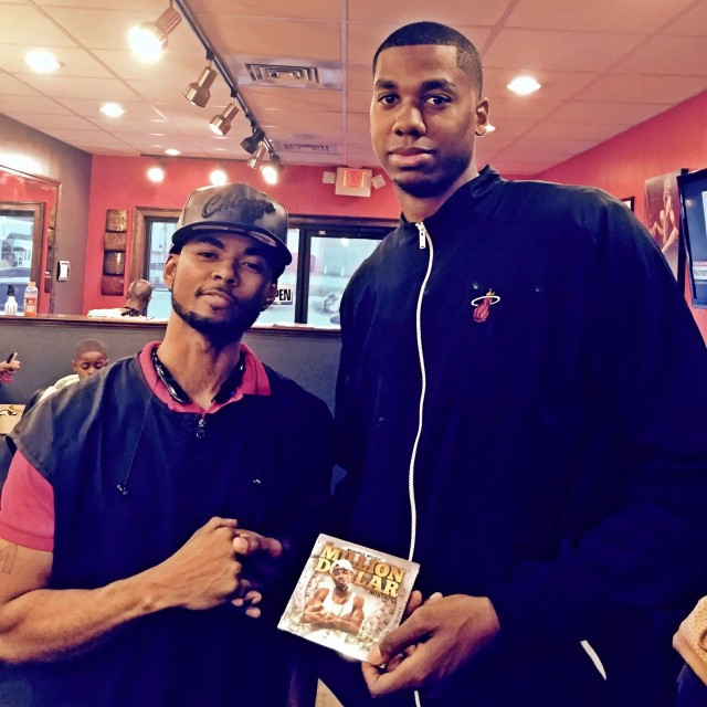 Me and the homie _hassanwhiteside  _miamiheat starting center just got his copy of #TheMillionDollar