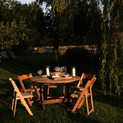 Dine under the Green Farm willow tree