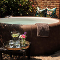 The tub in the walled garden