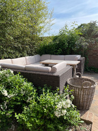 Relax in the walled garden at The Spa