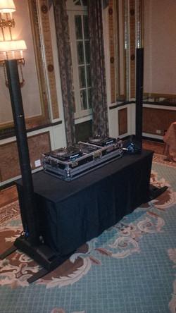 DJ Eric Visa mobile DJ set-up