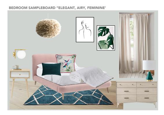Elegant feminine bedroom
