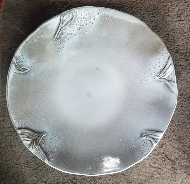 Large Slab Serving Bowl: Interior