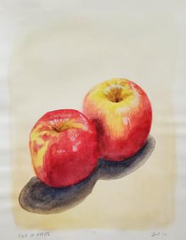 Watercolor of Apples
