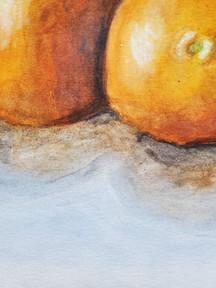 Watercolor Oranges Detail
