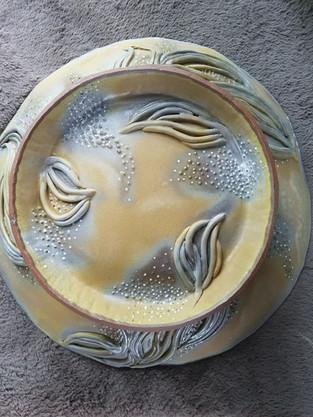Large Slab Serving Bowl: Bottom