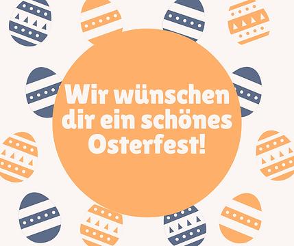 Orange Blau Eier Ostern Facebook Post.pn