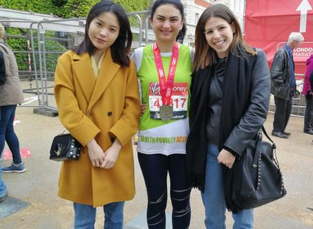 Julia runs London marathon.