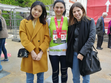 Julia runs London marathon.