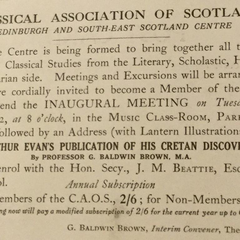 100 years of CAS Edinburgh & SE Centre