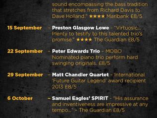 Peter Edwards Trio play Ram Jam Club, London 22 September