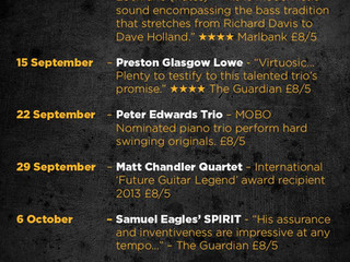 Peter Edwards Trio play Ram Jam Club, London 22 September