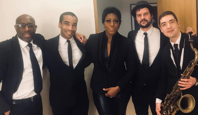 Backstage with Mica Paris before performance at Dubai Opera House