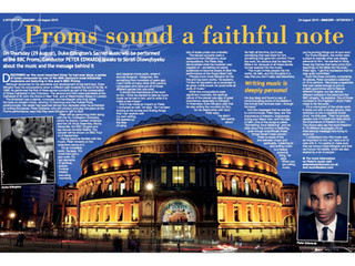 Interview with 'War Cry' about BBC Sacred Music prom