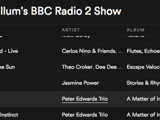 Added to Jamie Cullum's BBC Radio 2 show Spotify playlist