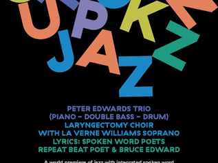 Peter Edwards Trio play Outspoken Jazz night with the Shout at Cancer Choir