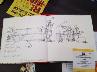 Artwork from live performance at Manchester Jazz Festival 2016