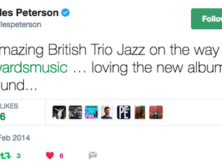 Warm words from Gilles Peterson
