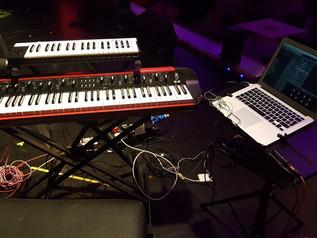 Keyboard setup for the Zara McFarlane Band 2018 UK tour